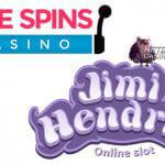 Free Spins Casino viert lancering Jimi Hendrix™ video slot met 60 free spins