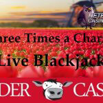 Three Times a Charm Live Blackjack promo bij Polder Casino
