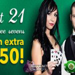 'Hit three 7's at Live Blackjack' promo bij Klaver Casino