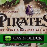 Plunder gratis spins en reload bonussen tijdens CasinoLuck's piraten promo