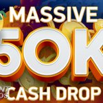 NetEnt Live Casino €50,000 Cash Drop bij Mr Green Casino