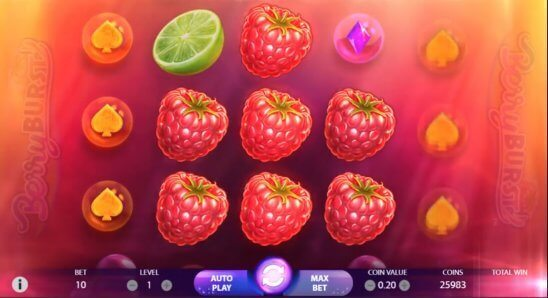 Berryburst-slot-NetEnt main game