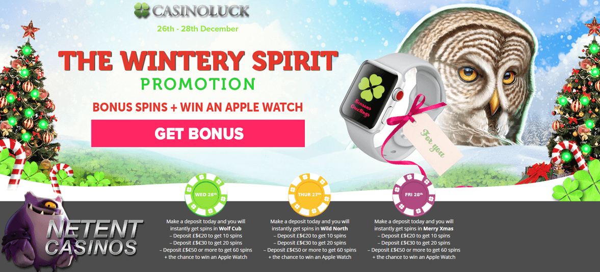 Winter Spirit promotie Casinoluck_