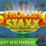 Fruitige video slot ervaring in aantocht met de Strolling Staxx: Cubic Fruits™ video slot