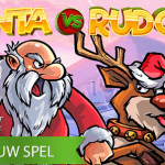 Rudolf is op de ondeugende toer in de nieuwe Santa vs Rudolf™ video slot