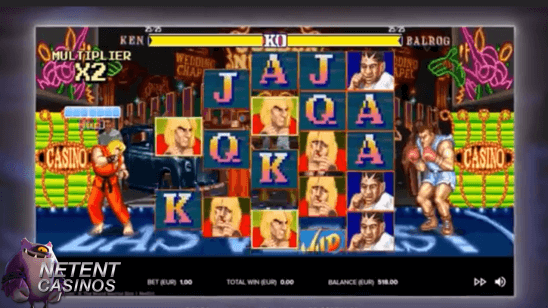 Streetfighter 2 video slot free spins
