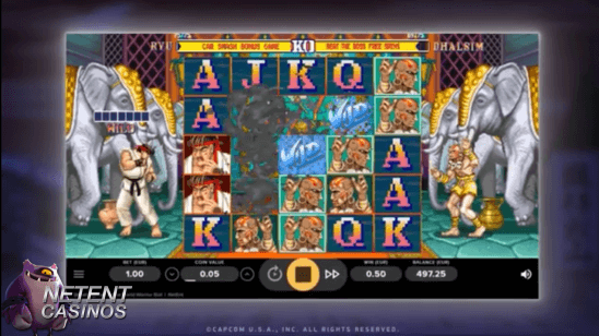 Street fighter 2 video slot basisspel