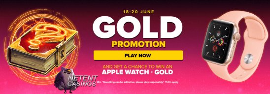 Apple Watch Gold promotie NextCasino
