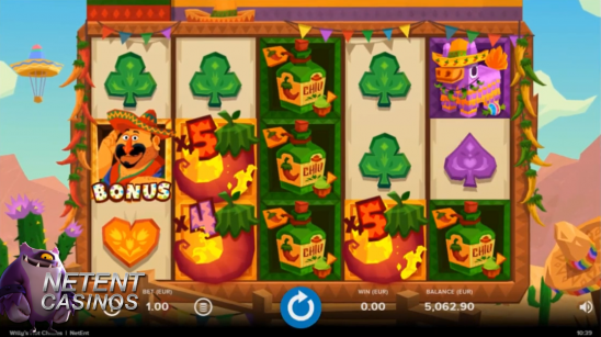 Willy's Hot Chillies video slot