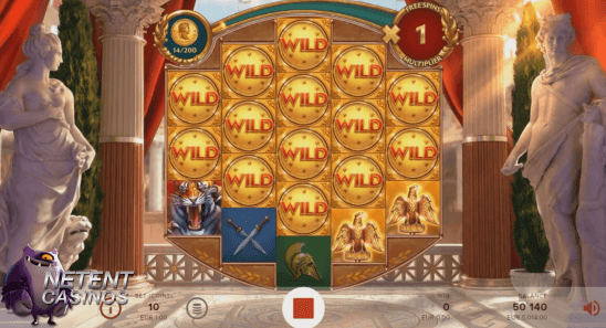 Rome The Golden Age™ video slot Wild feature