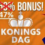 Klaver Casino gives away a 47% Kingsday Bonus
