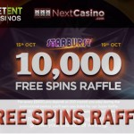 Win 1,000 free spins on the Starburst video slot at NextCasino