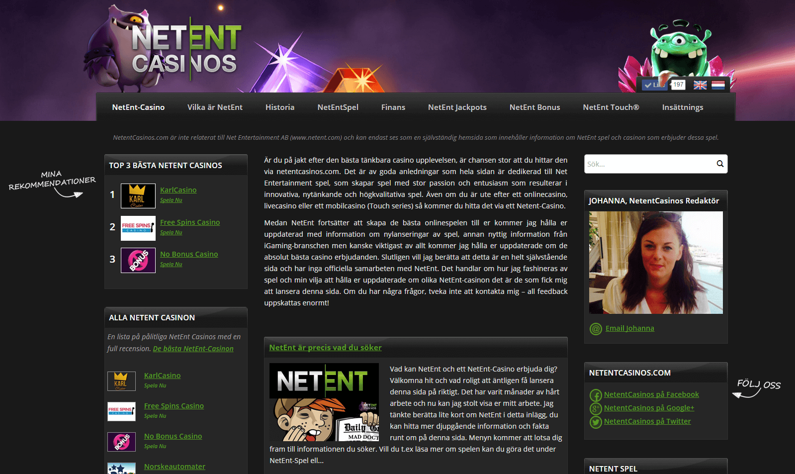 all netent casinos