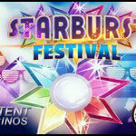 Starburst™ slot festival at LeoVegas