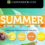 Free Spins NetEnt slots during Summer Promo at CasinoLuck