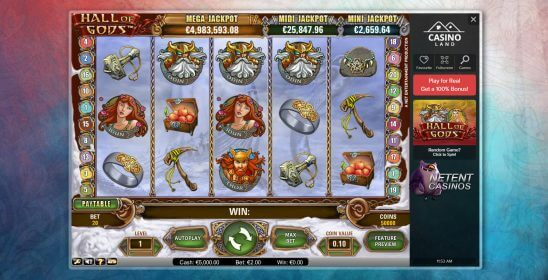 Hall-of-Gods™ Jackpot at Casinoland