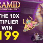Win up to €398 on the Pyramid: Quest for Immortality™ slot at Klaver Casino