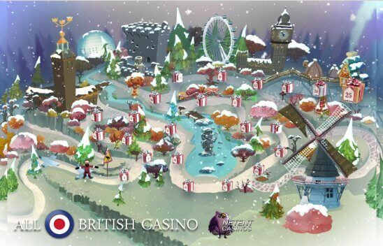 All British Casino's Christmas Advent Calendar 2016