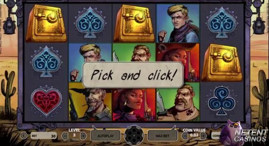 Wild-Wild-West-slot-netent-pick-and-click-game