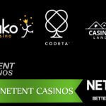 Top 3 online casinos with NetEnt Games