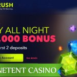 NightRush Casino new to the list of NetEnt Casinos