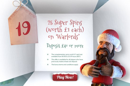 All British Casino Christmas Advent Calendar promo 15