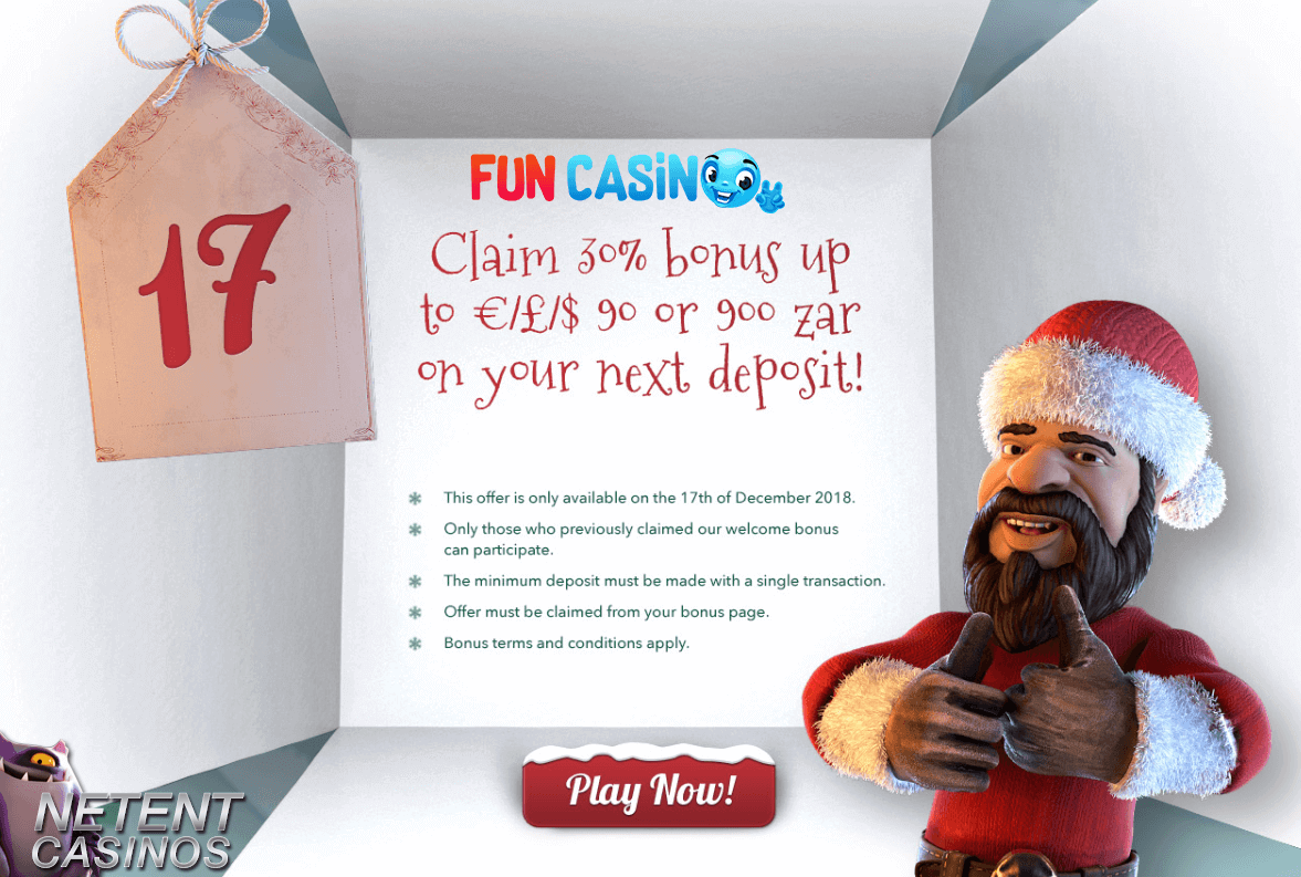 Advent Calender promo 17 Fun Casino