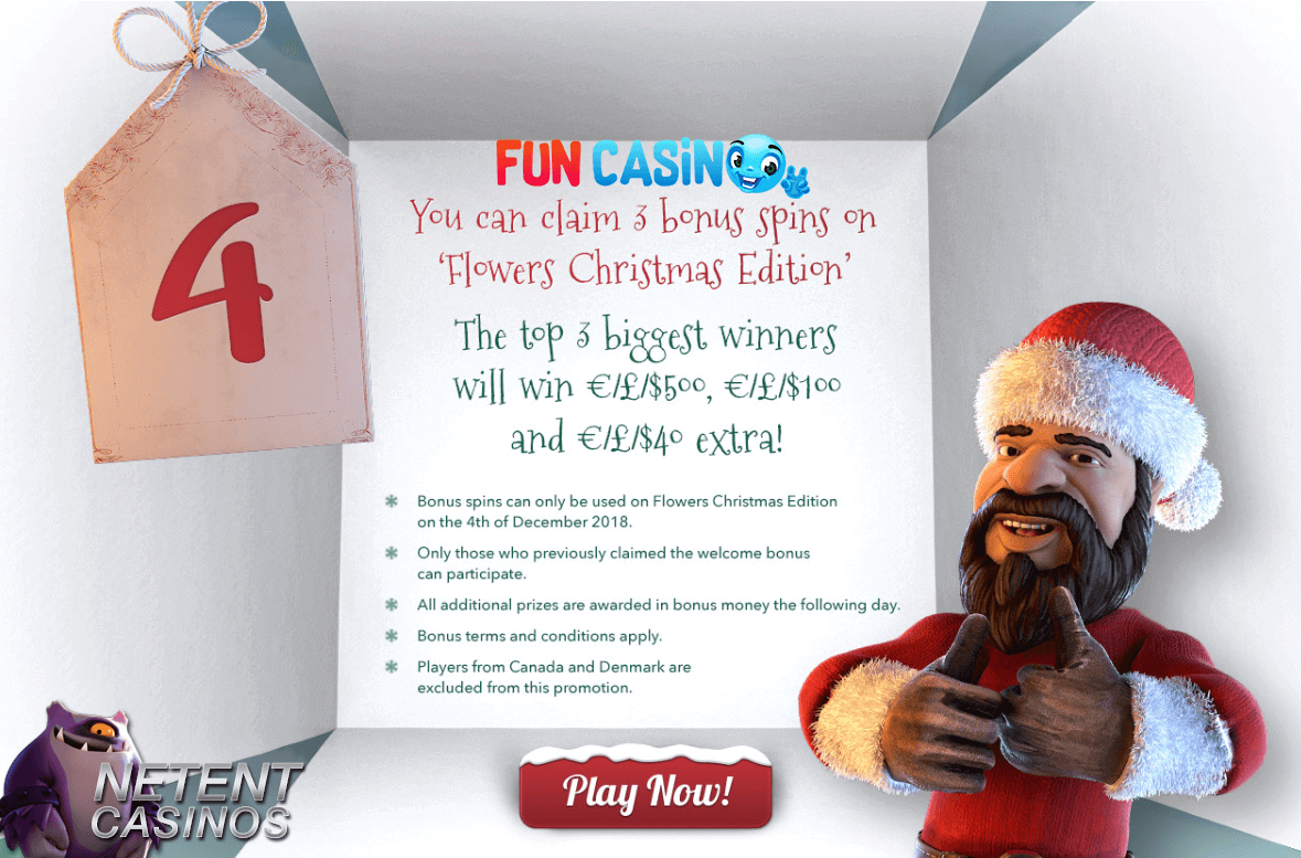 Advent Calender promo 4 Fun Casino