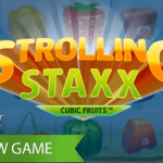 Enjoy box-shaped fruits in the new Strolling Staxx™ video slot
