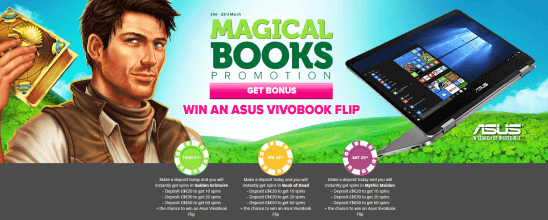 Magic Books Promotion Casinoluck_