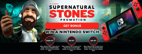 Supernatural Stones Casino Promotion NextCasino