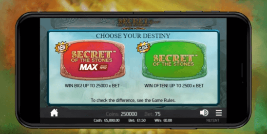 Secrets of the Stones Max slot