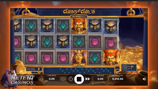 Gods of Gold Infinireels slot feature