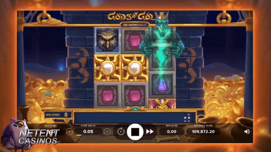 Gods of Gold Infinireels slot Re-spins feature