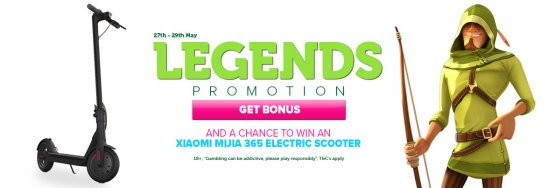 Legends slot promotion CasinoLuck