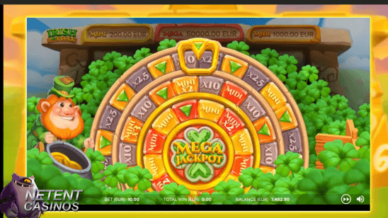 Irish Pot Luck Touch® Jackpot Bonus Wheel