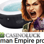 Up to 180 Free Spins for Roman slots at Casino Luck this week.