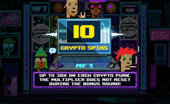 NFT video slot Crypto Spins feature